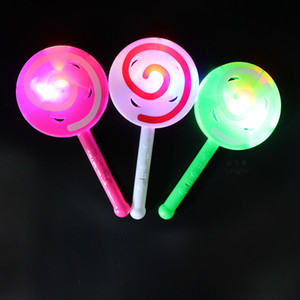 Wholesale plastic hand stick for sale - Group buy 2017 new LED flash stick flashlight hand bell stick luminous lollipop fluorescent bar children s toys