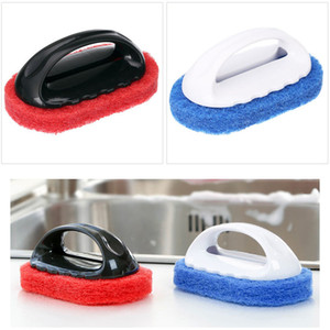 Home Multi-function Kitchen Bathroom Handheld Sponge Cleaner Cleaning Sponges Brush, Cleaning Bathtub Ceramic Tile Glass WC Brushes