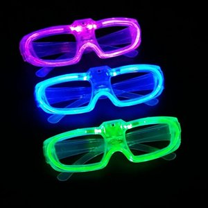 Wholesale New Led Cold Light Glasses EL Wire Glowing Flashing Glasses Fluorescence Party Glasses DJ Party Christmas Holiday Props