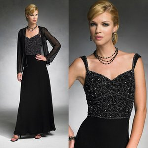 Beaded Applique Mother Of The Bride Dresses Scalloped Neck Sleeveless Plus Size Evening Gowns With Jacket on Sale
