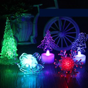 Crystal Acrylic Christmas Tree LED Colorful Night Light Christmas Decoration Gift Luminous Christmas Supplies free shipping