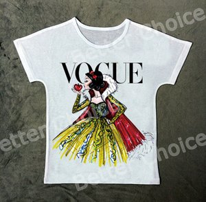 Wholesale Track Ship New Vintage Retro Fresh Hot T shirt Top Tee Vogue Snow Princess Enjoy A Big Red Apple