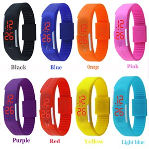 Wholesale Smart Touch Screen LED Watch Plastic Rubber Fashion Boys Men Women s sprots Watches Digital Jewellery Bracelets Halloween Gift Christmas