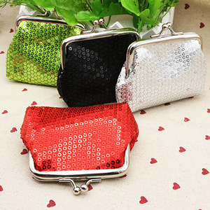 Hot Sequins Coin Purse Fashion Coin Bag Key Holder Wallet Hasp Buckles Small Gifts Bag Clutch Handbag Bank Card Casual Bag WX-W16 on Sale