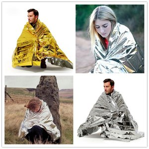 Wholesale New Fashion WaterProof Emergency Blanket Survival Rescue Blanket Foil Thermal Space First Aid Sliver Rescue Curtain Outdoor Pads B0959