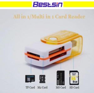 Wholesale All in USB Multi Memory Card Reader Adapter Connector For Micro SD MMC SDHC TF M2 Memory MS Duo RS MMC