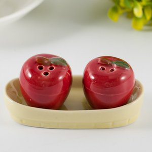 Apple Seasoning Pot Salt And Pepper Jar Kitchen Things Creative Game Gift Wedding Souvenirs Popular 3 7tz C R on Sale