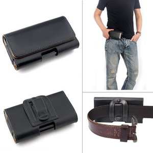 Wholesale Leather Waist Hang Case Mobile Phone Cover Belt Holster Clip Pouch Sleeve for inch all Cell Phone