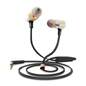 Wholesale AWEI ES TY Cell Phone Earphone mm Jack HIFI Stereo Headset Portable Media Player Headphone with retail package
