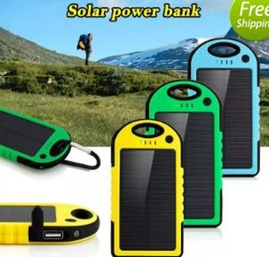 Wholesale 2017 mAh Solar power bank waterproof shockproof Dustproof portable Solar powerbank External Battery for Cellphone iPhone Plus
