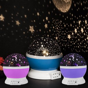 Night Star Moon Sky Starry Projector LED Light Lamp Kids Baby Bedroom Festive Party Supplies