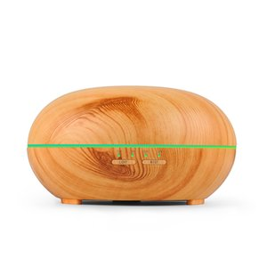 Wholesale 300ml Wood Grain LED Lights Essential Oil Ultrasonic Air Humidifier Electric Aroma Diffuser for Office Home Bedroom Living Room Yoga Spa
