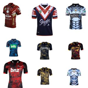 Wholesale 2017 Rugby League New Zealand Super Rugby Union Crusaders High temperature heat transfer printing jersey Rugby Shirts