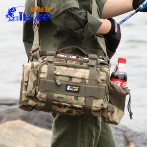 Wholesale Fishing Bag New Fishings Gear Release Multi Functional Road Package Large Size Waist Shoulder Fish Lure Reel Tackle Bags wh F