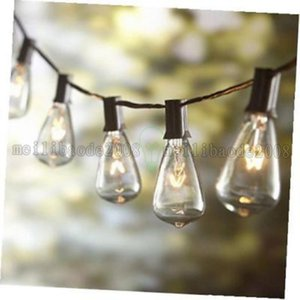 Wholesale NEW ST38 Bulb String light Tungsten Filament Clear Lights V US Plug Garden Courtyard Festival Decorative Light String Christmas MYY