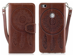 Wholesale Flip Cover For HUAWEI P8 Lite Case Luxury Embossed Leather Dreamcatcher Peacock For HUAWEI P8 Lite Flip Cover Case