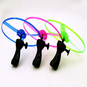Wholesale fairy toys fly resale online - Luminous UFO flying arrows flying saucer outdoor toys fairy LED flash bamboo dragonfly factory direct sale