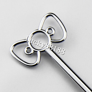 Wholesale tiers gold silver metal cale stand handles cake stand fittings with The butterfly design