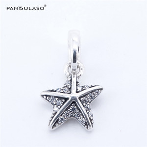 Pandulaso Tropical Starfish & Sea Star Beads for jewelry making Fits Pandora charms Bracelets Woman DIY Silver 925 Jewelry 2017 Summer