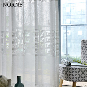 Wholesale Norne Modern Tulle Window Curtains For Living Room The Bedroom The Kitchen Cortina rideaux Siample Lace Sheer curtains Fabric Blinds Drapes