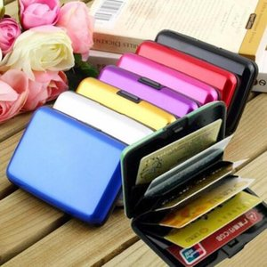 Wholesale Aluminum Alloy Business ID Credit Card Holder Wallet Waterproof Antimagnetic RFID Bank Card Wallets Coin Purse Chirstmas Gifts for Women Men
