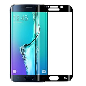 Wholesale for Samsung S7 Edge Screen D Protector Tempered Glass Full Coverage Curved Side Explosion Proof for samsung S6 S7 With Luxury ratail Box