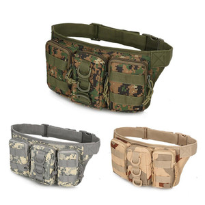 Wholesale Outdoor Molle Gear Waterproof Camouflage Cycling Camping Hiking Mans Waist Bag Sport Pack Message Bag Tactical Military Pouch Bag