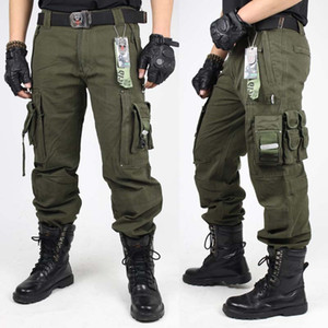 Wholesale Mens CARGO PANTS Overalls MILITARY TACTICAL PANTS Army Green And Black Combat Trouser Clothing For Men