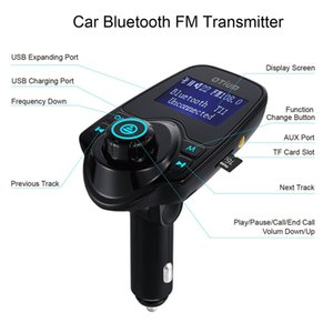 Wholesale T11 Bluetooth Hands-free Car Kit With USB Port Charger And FM Transmitter Support TF Card MP3 Music Player Also BC06 BC09 T10 X5 G7 Car Kit