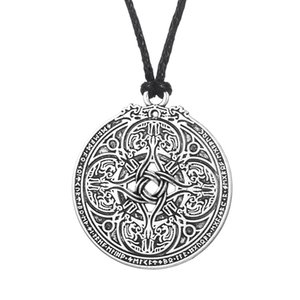Wholesale 5 Coin Jewelry Viking Pendant Vadstena Bracteate Hand Stamped Tibetan Necklace Medallion Amulet For Men
