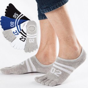 Wholesale 2019 New Hot Sale five fingers socks men stealth five toe socks fashion leisure Summer breathable cotton Invisible Nonslip Ankle Socks