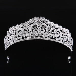 Wholesale quality pageant crowns for sale - Group buy Fashion High Quality Exquisite Crystal Bridal Crown Women Pageant Prom Tiaras Hair Jewelry Accessories Headdress