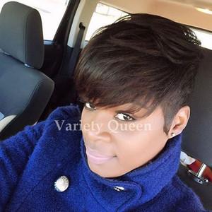 Human hair wigs glueless Pixie Cut short human hair wigs for african americans Best brazilian hair wigs New