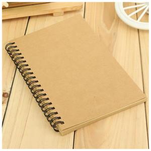 Wholesale- Kraft Coil Sketch Sketchbooks Blank Notebook Creative Notebook School Stationery