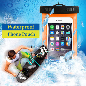 Wholesale Camouflage Waterproof case Universal Water Proof Bag armband pouch Cover For all iphone Cell Phone bag DHL fast
