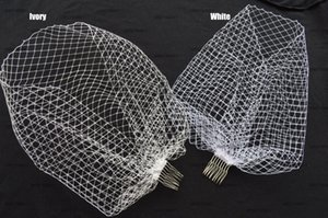 Wholesale 2017 Wedding Accessories Hot Bridal Birdcage Veils White Ivory Black Net with Comb Charming Wedding veils