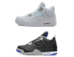 Wholesale 4s Classic basketball shoes alternate motorsport pure money white cement royalty bred thunder green glow black cat sneakers