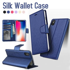 Wholesale For iPhone PRO MAX XS Max XR XS Wallet Case Flip Cover Stand Holder Cover Case for Note Note S10 A20 A50 A70 Protector Cases