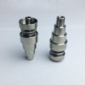 Wholesale 6 In Male Female Joint GR2 Universal Domeless Titanium Nail mm mm mm for Glass Bongs Water Pipes Dab Rigs