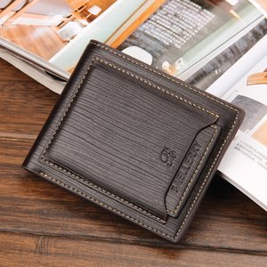 Wholesale Baellerry Hot Sale Business Men s Wallets Quality Folds Sutures Black Brwon Detached Cards Slots ID Holder Purses