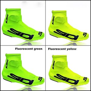 Wholesale 2017 Fluorescent yellow SIDI Lock shoes cover Bicycle Cycling Overshoes Pro Road Racing MTB Bike Cycling Shoes Cover Sports Shoes Cover