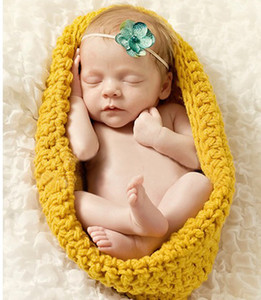 Wholesale Baby Photography Props Sleeping Bag Newborn Boy and Girl Crochet Outfit Infant Coming Home Photo Props Doll Accessories