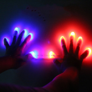 Wholesale Eco Friendly LED Bright Finger Lights Glow LED Fingers Toys Led Finger Light Finger Lamp Light for Chistmas decoration Toy