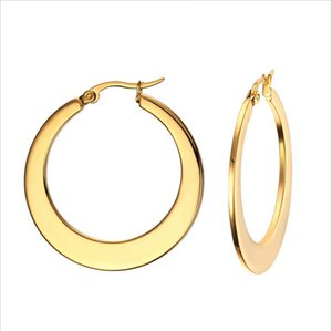 Wholesale Big Circle Classic Hoop Earrings Gold Plated For Women Party Jewelry Trendy Round Earrings Ronda Grande Pendientes EH