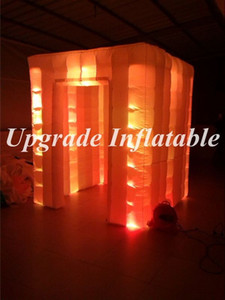 Wholesale inflatable photo booth cube tent inflatable promotional booth with led