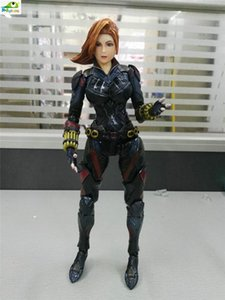 Wholesale POPOToyFirm Black Widow Play Arts Kai Movies Cartoon PVC cm Action Figure Toys With Boxes