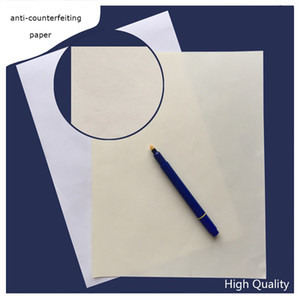200 sheets Contract printinng paper 75% cotton 25% linen pass counterfeit pen test paper white ivory high quality hot sale in US