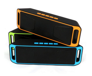 Wholesale NEW SC208 SC Mini Portable Bluetooth Speakers Wireless Smart Hands free Speaker Big Power Subwoofer Support TF and USB FM Radio Free DHL