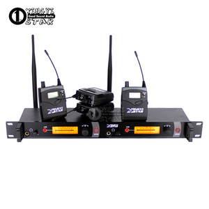 In Ear Monitor Wireless System Stage Professional Monitoring Four Bodypack Receivers With One Cordless Transmitter In Earphone