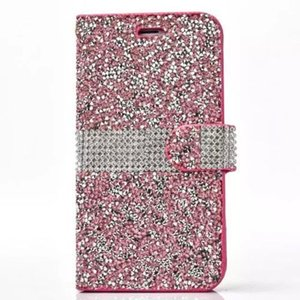Wholesale For iPhone Plus iPhone X Hot Sale New TPU Glitter Shinny Diamond Rhinestone Wallet Case Pouch Credit Card Holder Silver Gold Cover